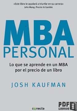 Libro PDF: MBA personal
